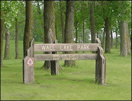 Wall Lake Park Sign